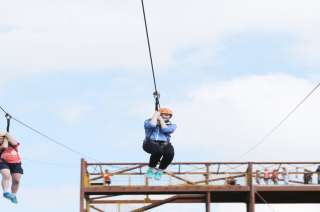 Tayto Park Attraction - Zip Line Extreme